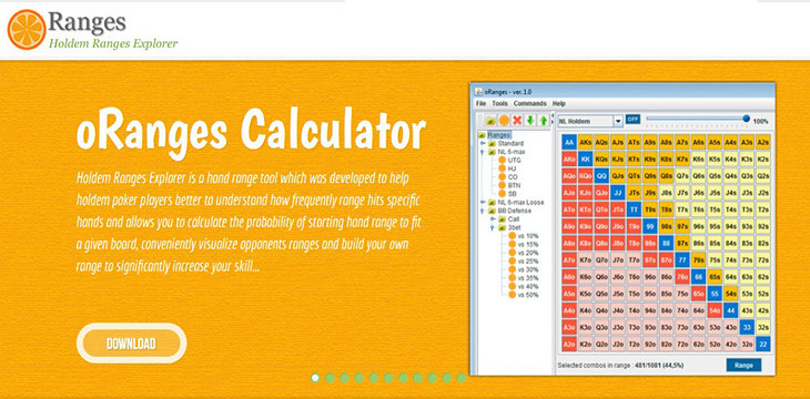 oRanges Calculator — software for analytical work with ranges