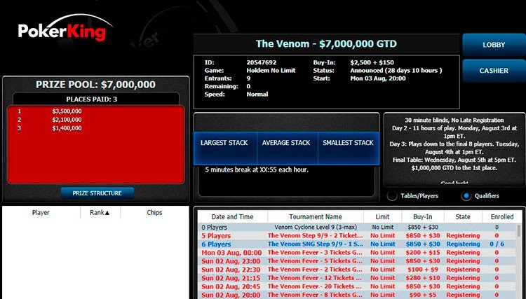 The Venom $7M GTD Lobby